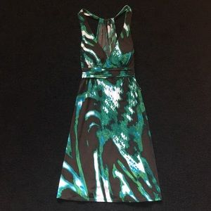 Colorful halter dress! Build in padding! New!!